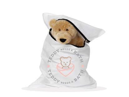 Teddy Needs A Bath Washer Bag For Stuffed Animals