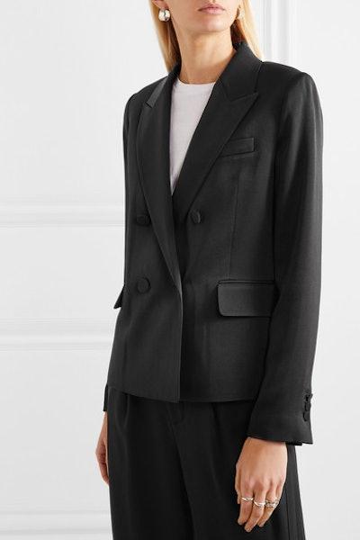 Satin-Crepe Tuxedo Jacket