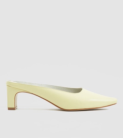Bix Leather Mule In Lemon