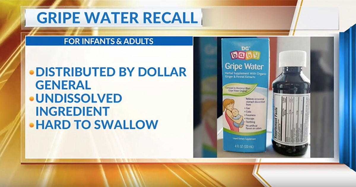 Baby Gripe Water Sold At Dollar General Stores Is