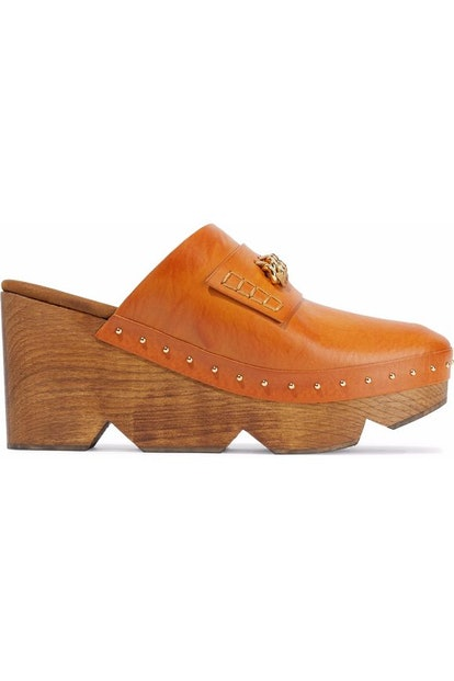 Chain-Trimmed Clogs