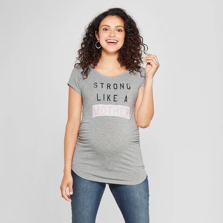 Strong Like A Mother Maternity Tee