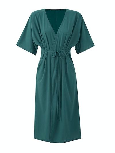TissueWeave Wrap Dress