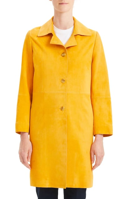 Theory Piazza Leather Coat