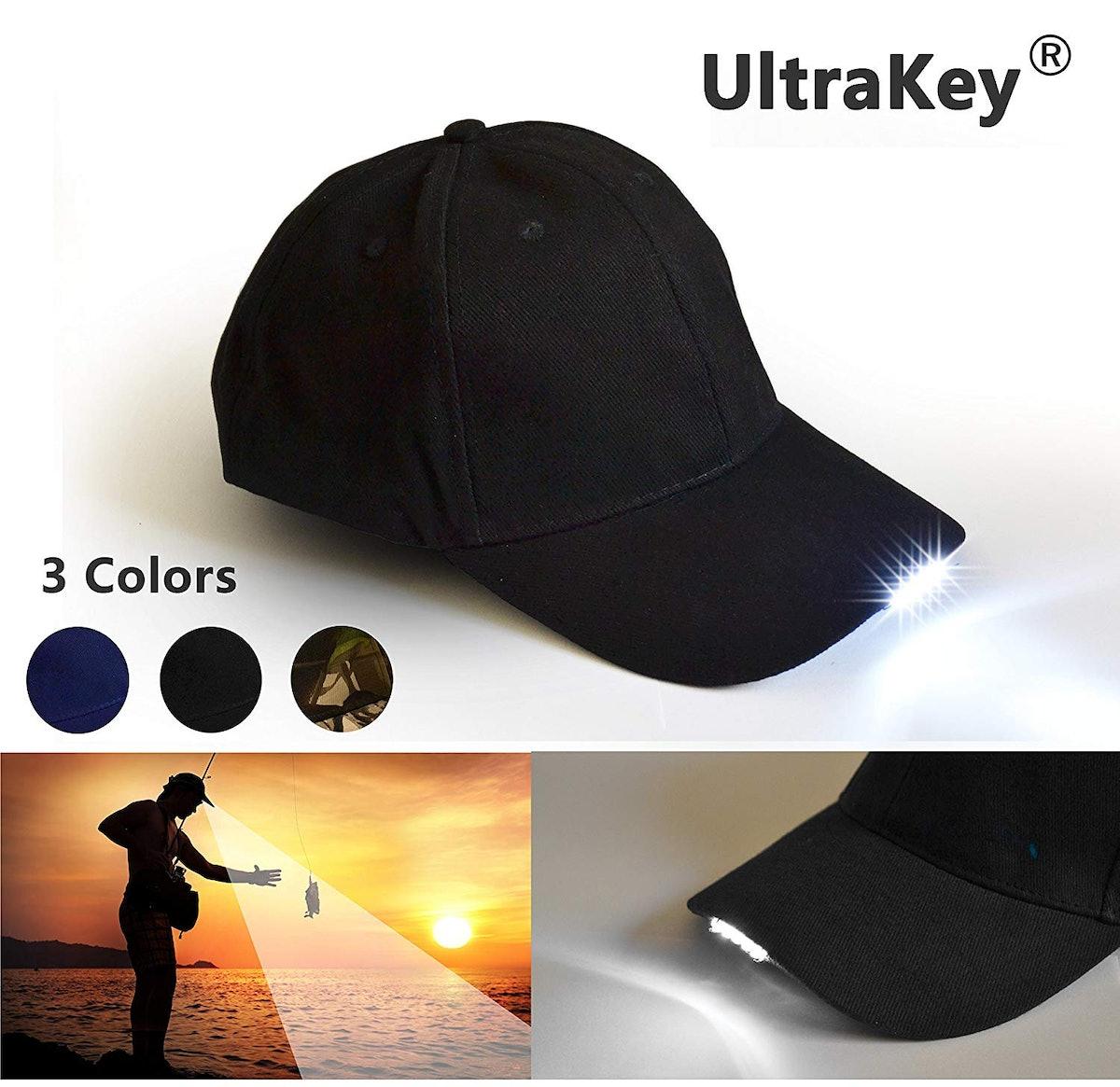 UltraKey Hands-Free LED Baseball Cap