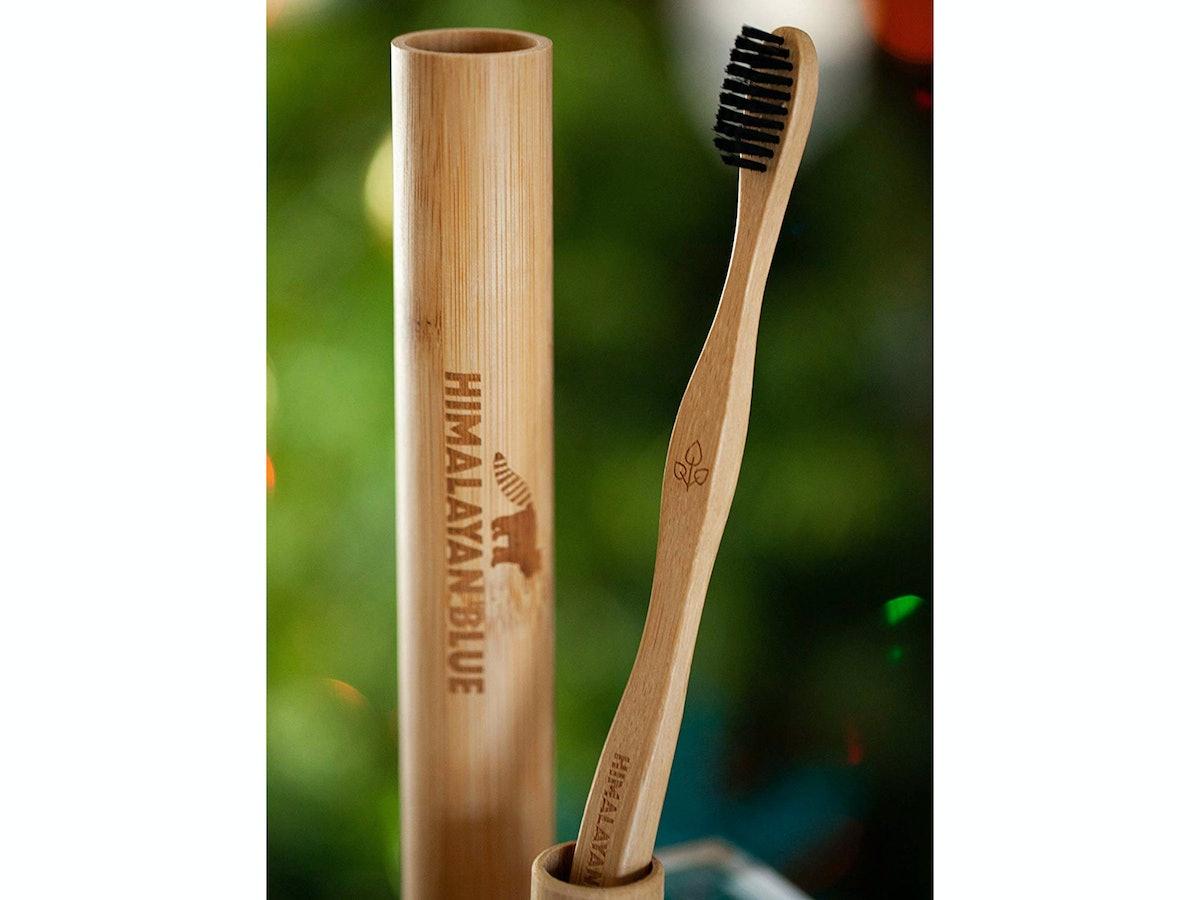 Himalayan Blue Organics Bamboo Charcoal Toothbrush