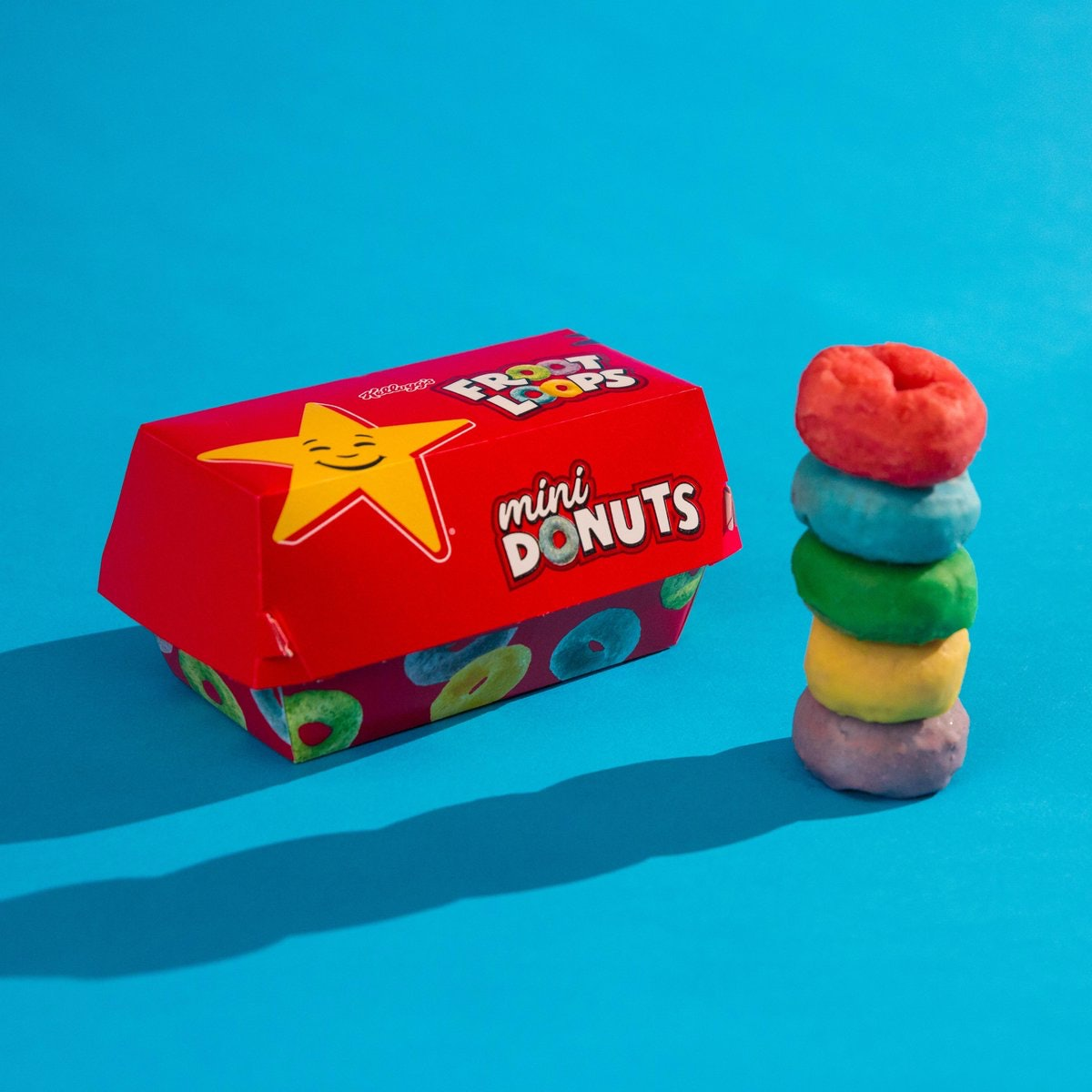 Carl's Jr. & Hardee's Relaunched Froot Loops Mini Donuts To Live Out Your Rainbow Dessert Dreams