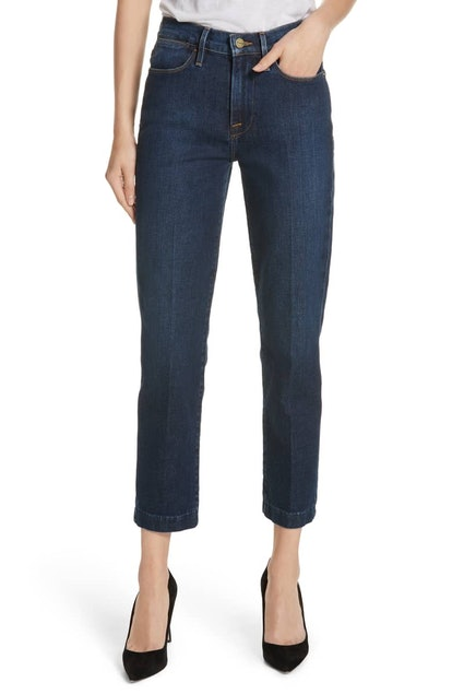 FRAME Le High Straight Blind Stitch Jeans