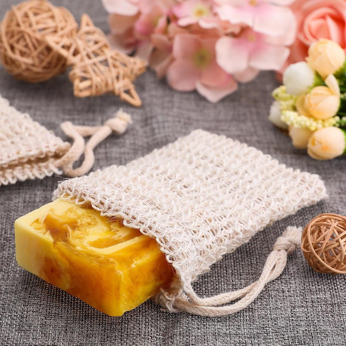 BBTO Natural Sisal Soap Bags (5 Pack)