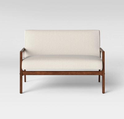 Peoria Wood Arm Loveseat Natural - Project 62