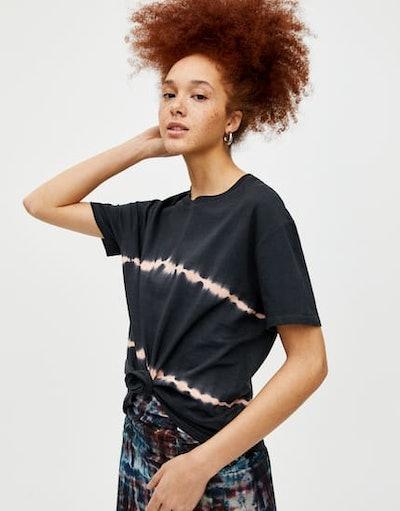 Tie-Dye Striped T-Shirt
