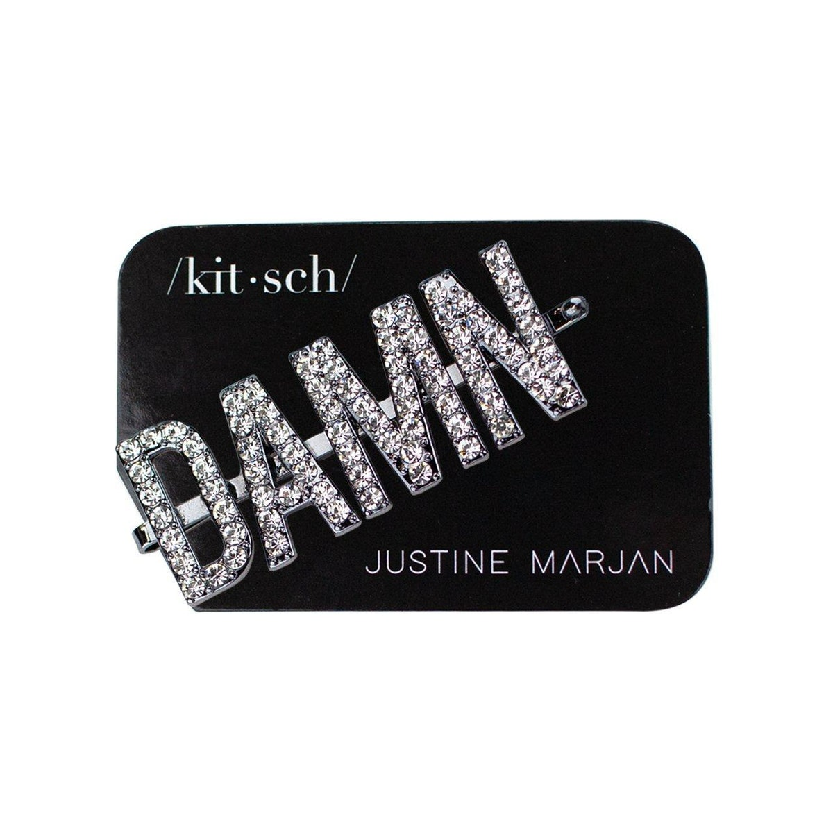 Kitsch x Justine Marjan 'DAMN' Rhinestone Bobby Pin