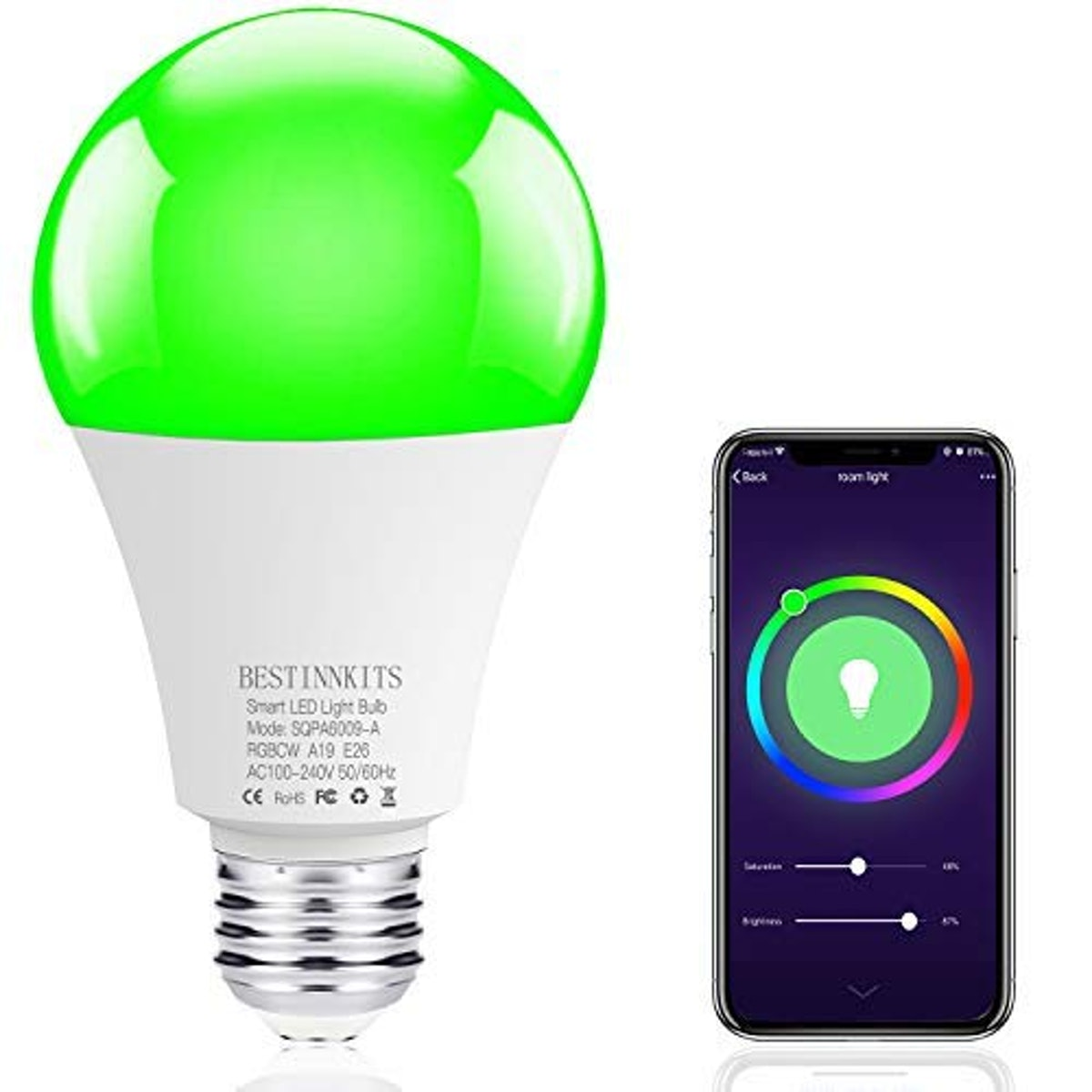 BESTINNKIT Color-Changing Smart Light Bulb