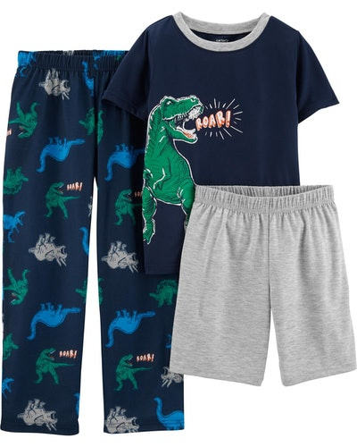 Kid Boy 3-Piece Dinosaur Poly PJs