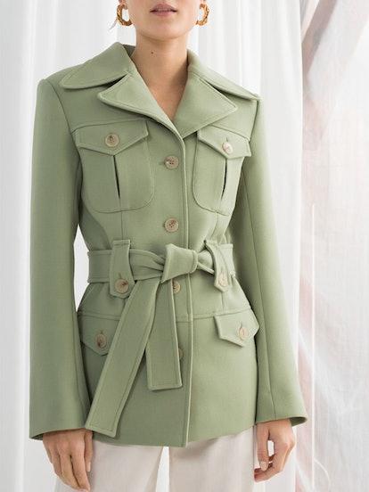 Structured Belted Workwear Jacket