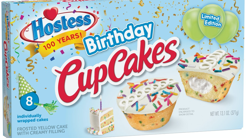 Hostess Birthday CupCakes Celebrate The Iconic Snack Cake Makers 100th Anniversary