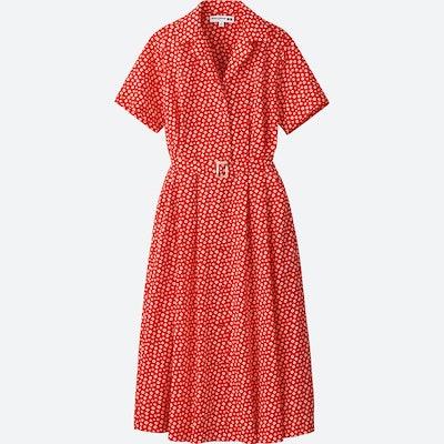 Lawn Tuck Short Sleeve Dress