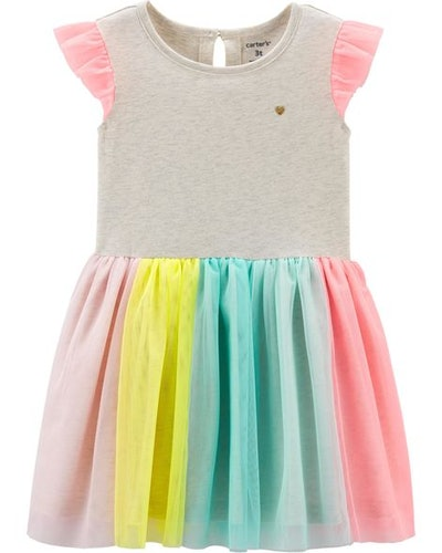 Toddler Girl Rainbow Tutu Dress