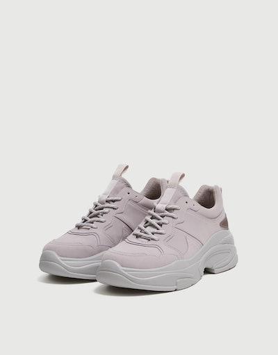Purple Chunky Sole Sneakers