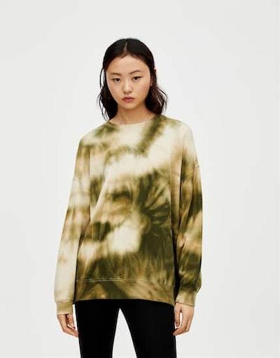 Tie-Dye Snakeskin Sweatshirt