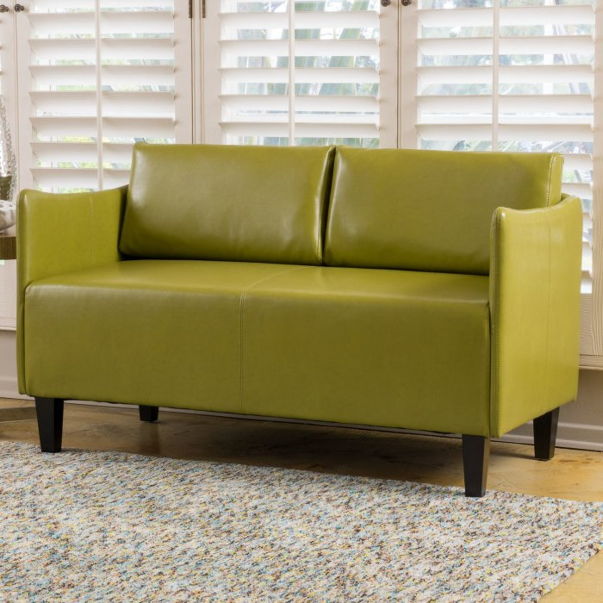 Halle Leather Loveseat by Best Selling Home