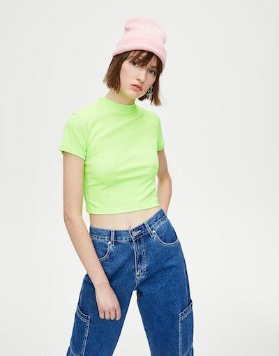 Neon High Neck T-Shirt