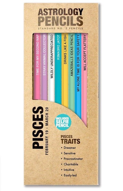 Pisces Zodiac Sign Pencils - Set of 8 Pisces Inspired Pencils!