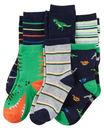 6-Pack Dinosaur Socks