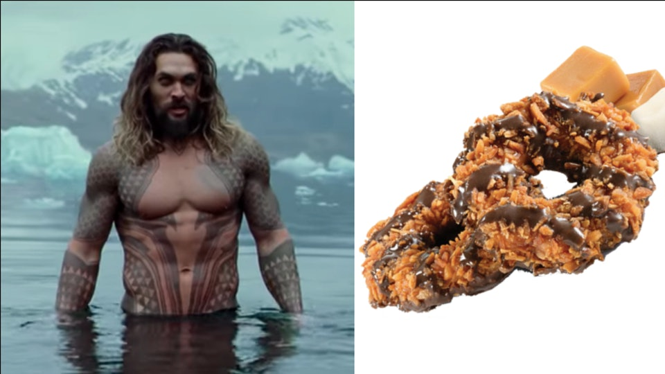This Girl Scout S Shirtless Jason Momoa Cookie Boxes Are