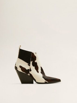 Leather Cowboy Ankle Boots
