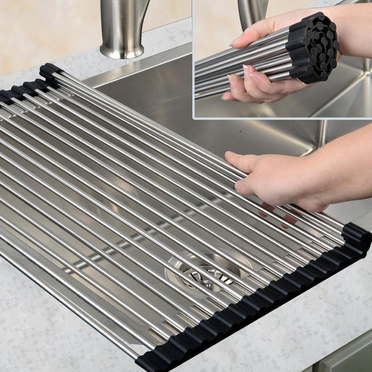VAPSINT Roll-Up Dish Drying Rack
