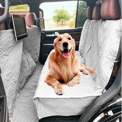 DFormosa Covers Deluxe Quilted and Padded Dog Car Seat Cover with Non-Slip Back