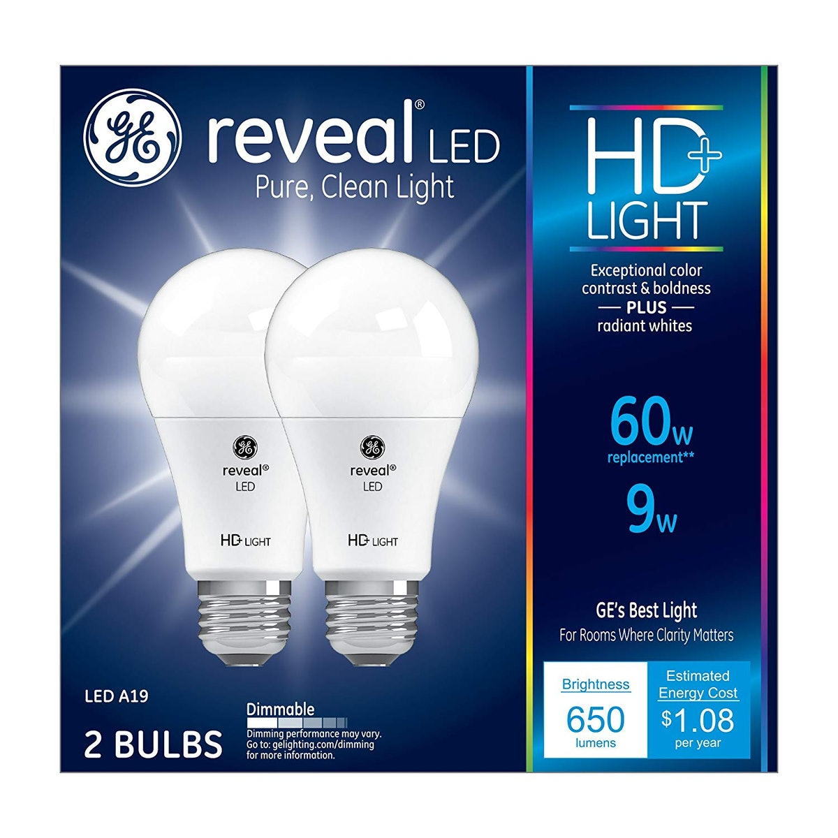 GE Reveal LED Light Bulb (2-Pack)