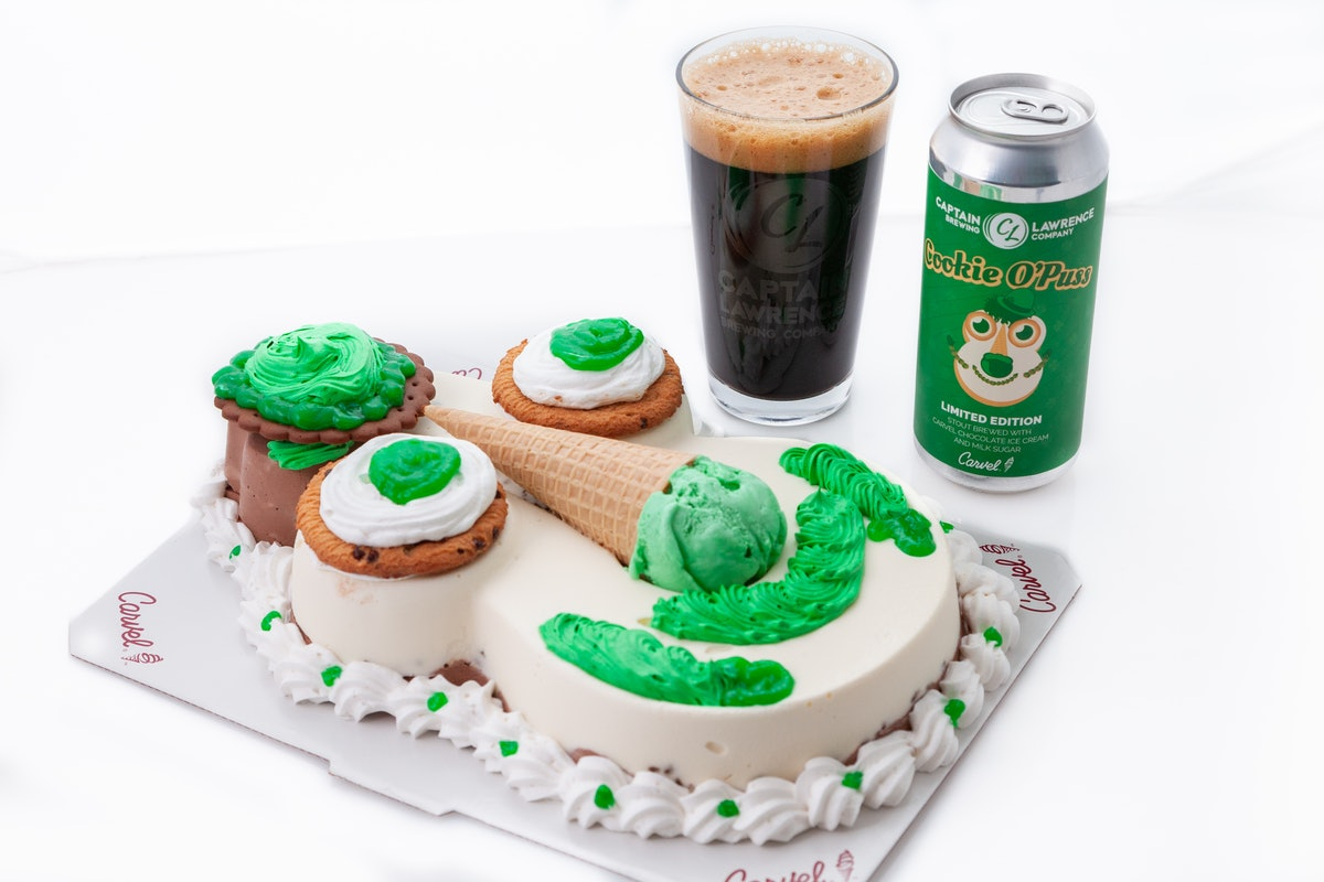 The Cookie O'Puss Pastry Stout By Carvel & Captain Lawrence Brewing Is Here For St. Patty's Day