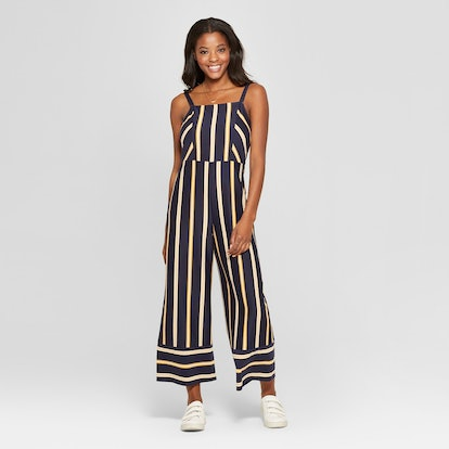 Xhilaration Strappy Square Front Knit Jumpsuit