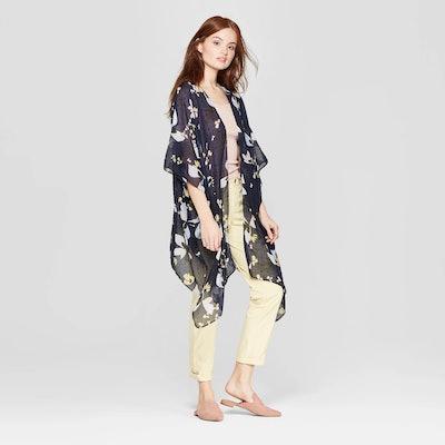 A New Day Floral Print Lightweight Kimono Jacket