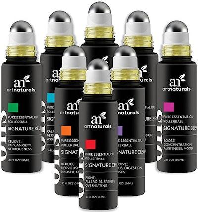 ArtNaturals Essential Oil Rollerballs (Pack of 8)