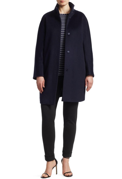 Wool Button-Front Coat