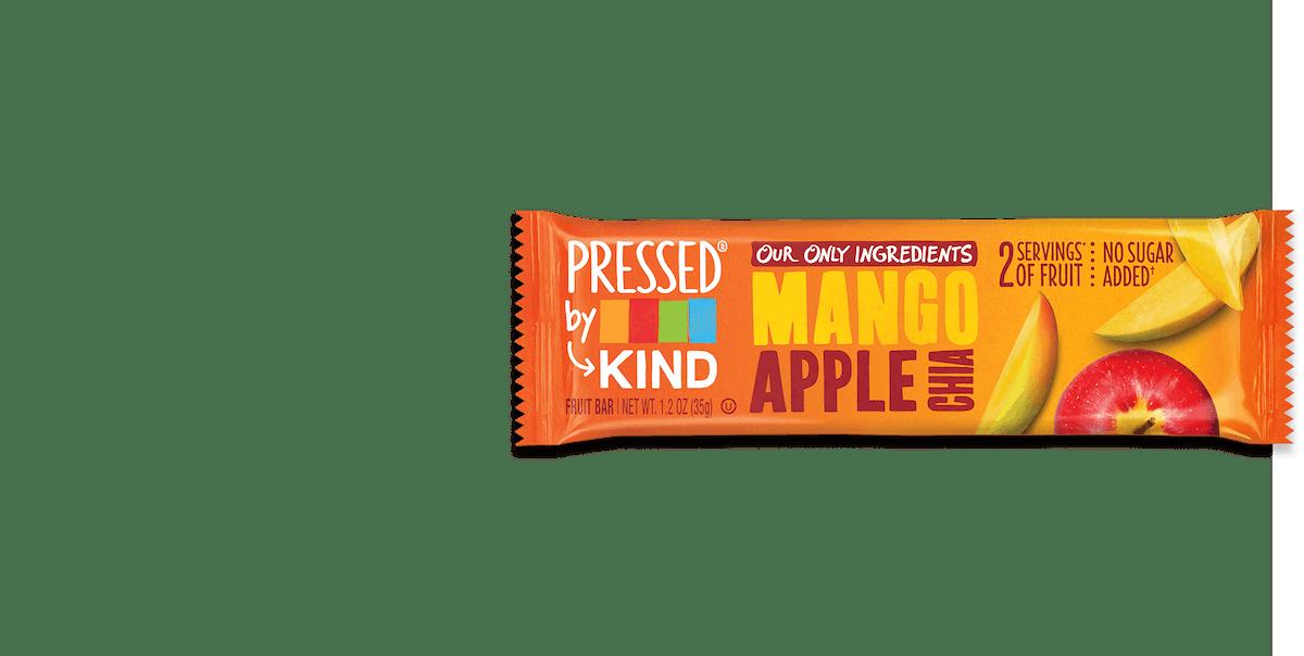 PRESSED by KIND Mango Apple Chia Fruit Bar Box of 12