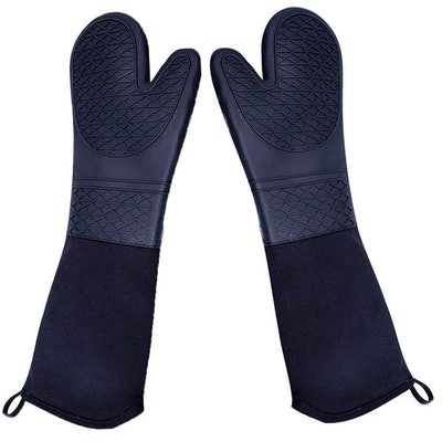 DoMii Extra Long Silicone Oven Mitts