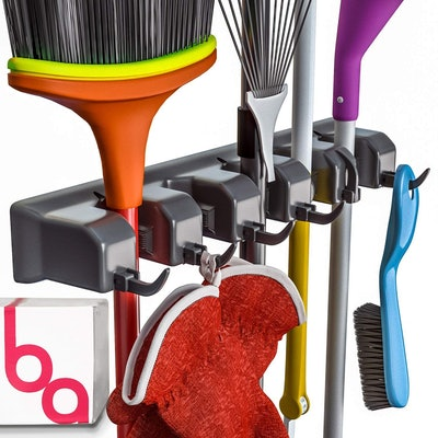 Berry Ave Broom Holder and Garden Tool Organizer