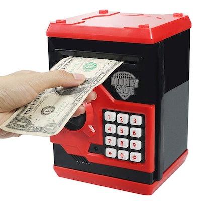 Elemusi Cartoon Electronic Password Mini ATM Piggy Bank