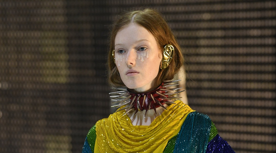3b647e010 Gucci's Fall 2019 Collection Just Unveiled The Most Dramatic Take On The  Ear Cuff Trend