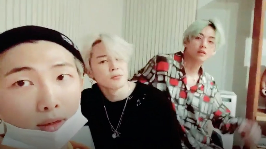 This Video Of BTS' RM, Jimin, & V Teasing Details About Their Album