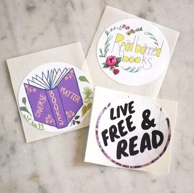 Banned Books Sticker Set: bibliophile, book lover, reader gift, librarian gift
