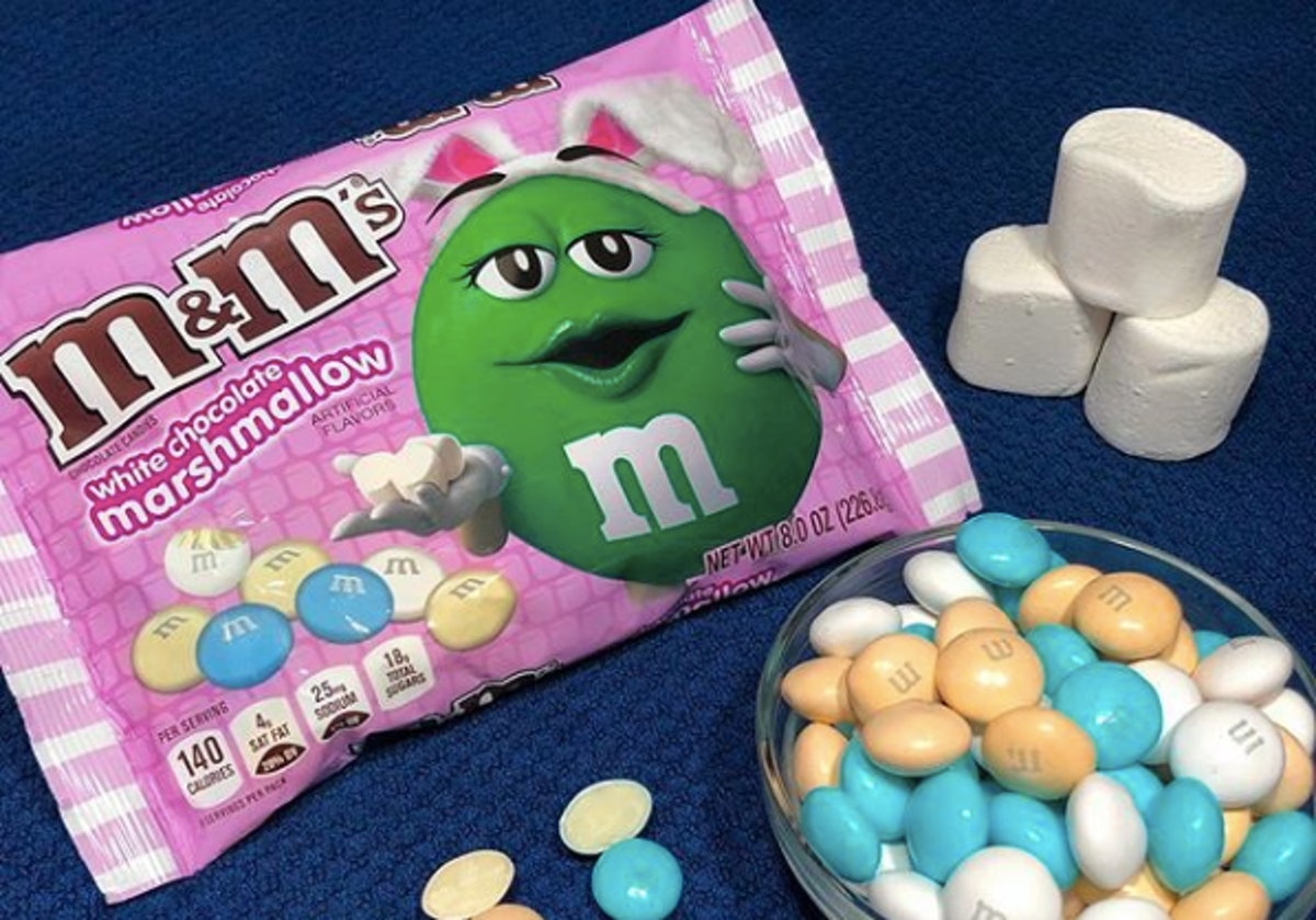This New White Chocolate Marshmallow M&M's Flavor Is Like A Twist On Easter Peeps