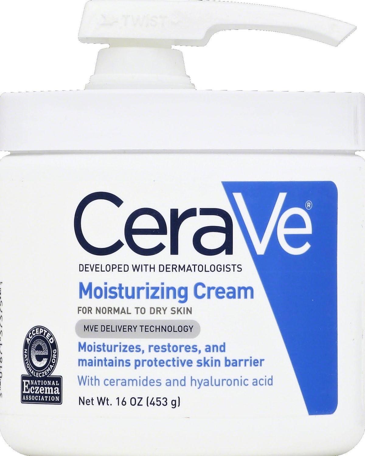CeraVe Moisturizing Cream with Pump, Body Cream for Dry Skin, 16 oz.
