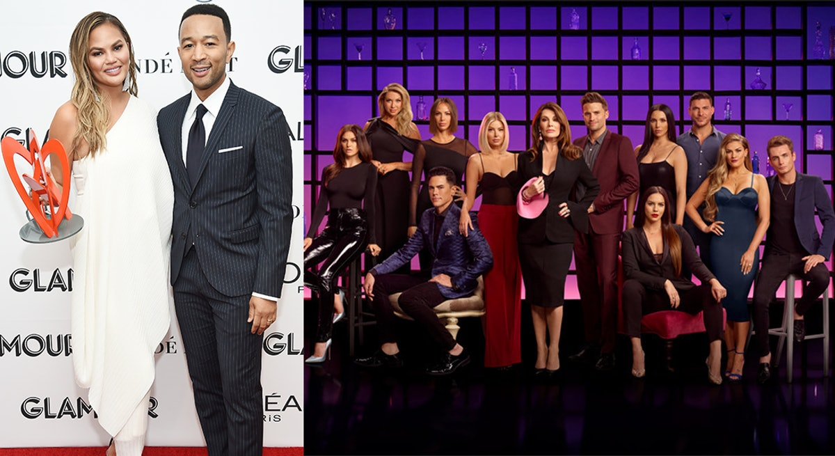 Photos From Chrissy Teigen & The 'Vanderpump Rules' Cast's 'Family Feud' Episode Taping Show 2 Worlds Colliding