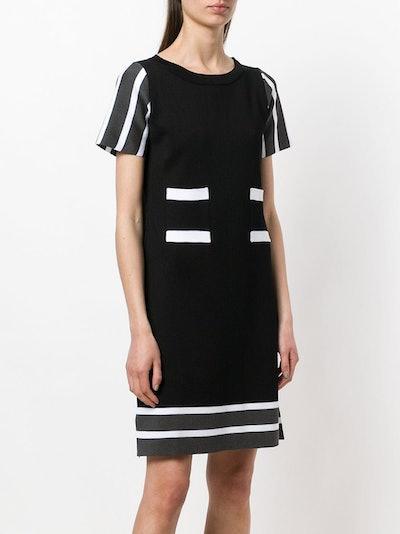 Striped Details Knit Dress