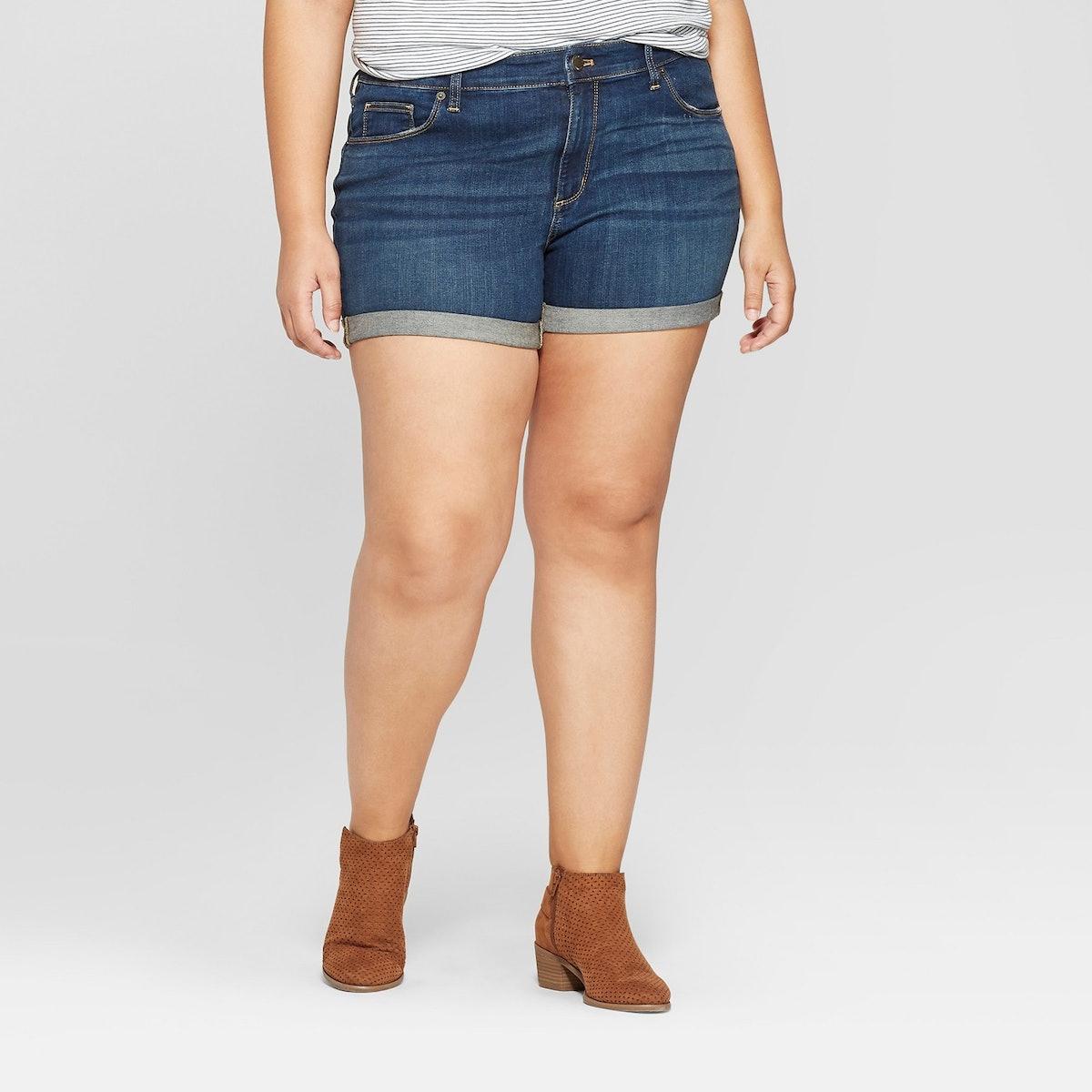 Universal Thread Roll Cuff Jean Midi Shorts
